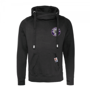 Black High Neck Hoodie