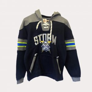 Hockey Hoodie – Black/Grey